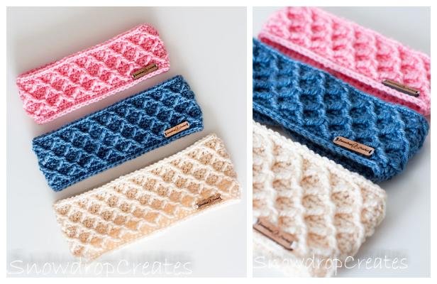 Diamonds Headband Free Crochet Patterns