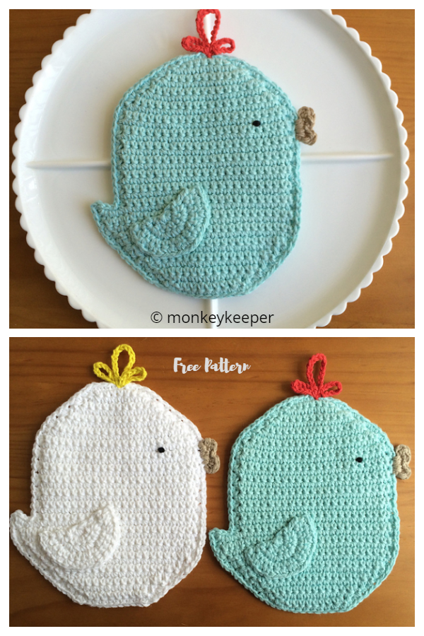Crochet Easter Chicken Potholder Free Crochet Patterns