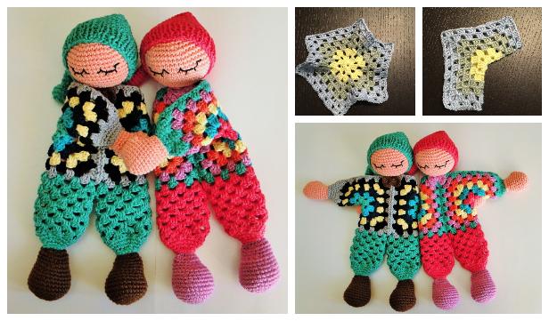 Granny Hexagon Doll Free Crochet Patterns + Video