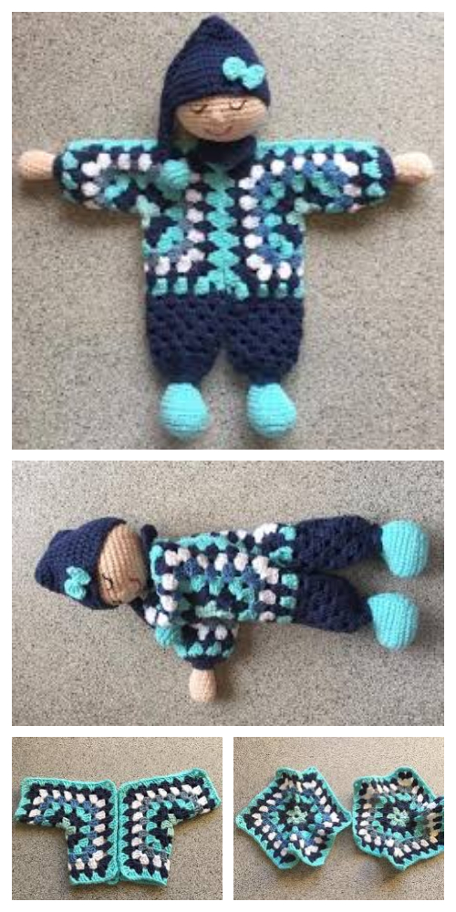 Granny Hexagon Doll Free Crochet Patterns + Video