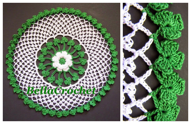 Irish Blessings Doily Free Crochet Pattern