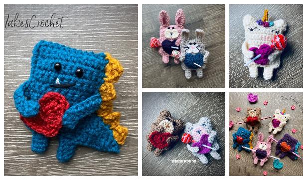 Quick Valentine Candygram Animal Free Crochet Patterns