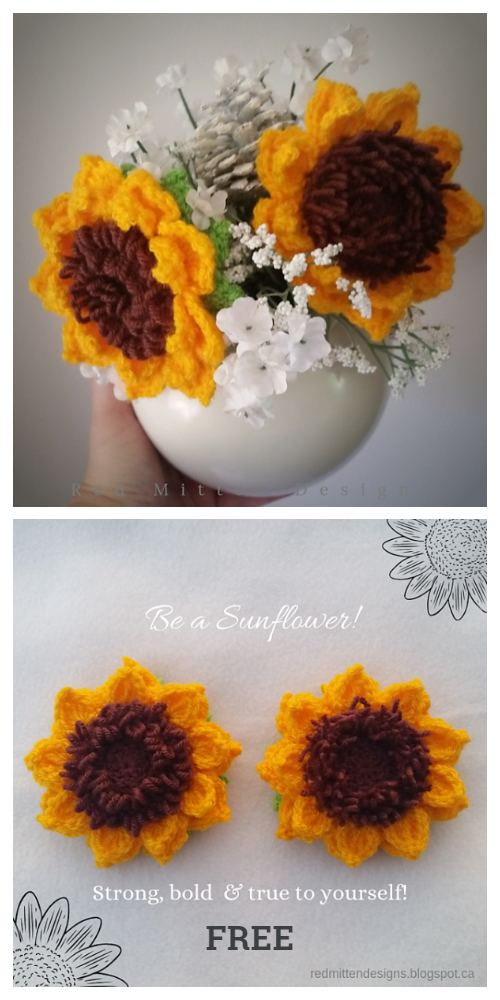 Sunflower Bouquet Free Crochet Patterns