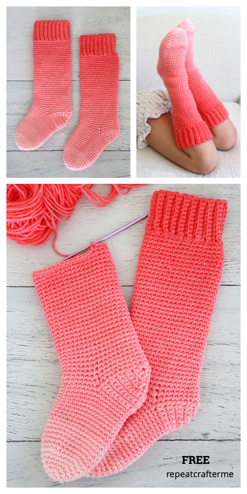 Super Saver Kids Slipper Socks Free Crochet Pattern
