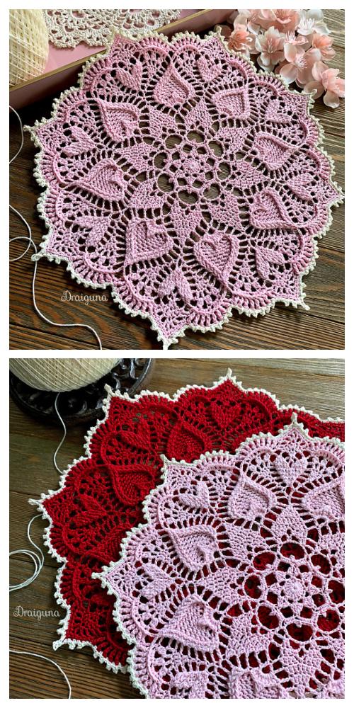 Sweetheart Soiree Doily Free Crochet Pattern
