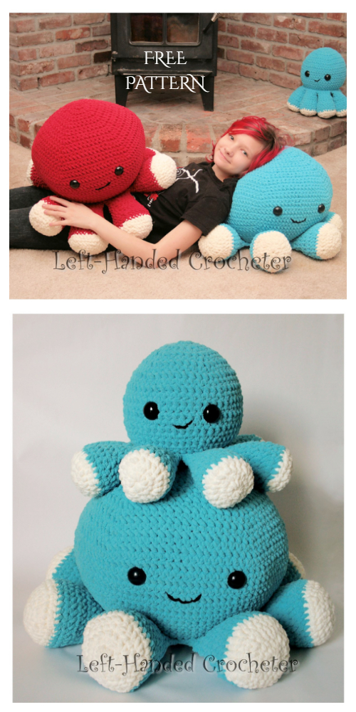 Amigurumi Giant Octopus Pillow Free Crochet Patterns