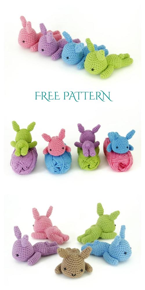 Amigurumi Lazy Sleeping Bunny Free Crochet Patterns