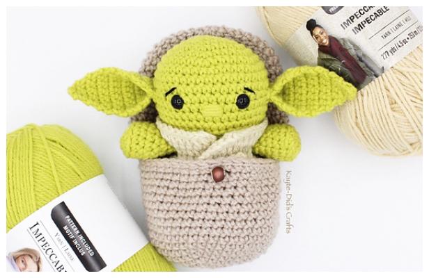 Crochet Hatching Alien Amigurumi Free Pattern