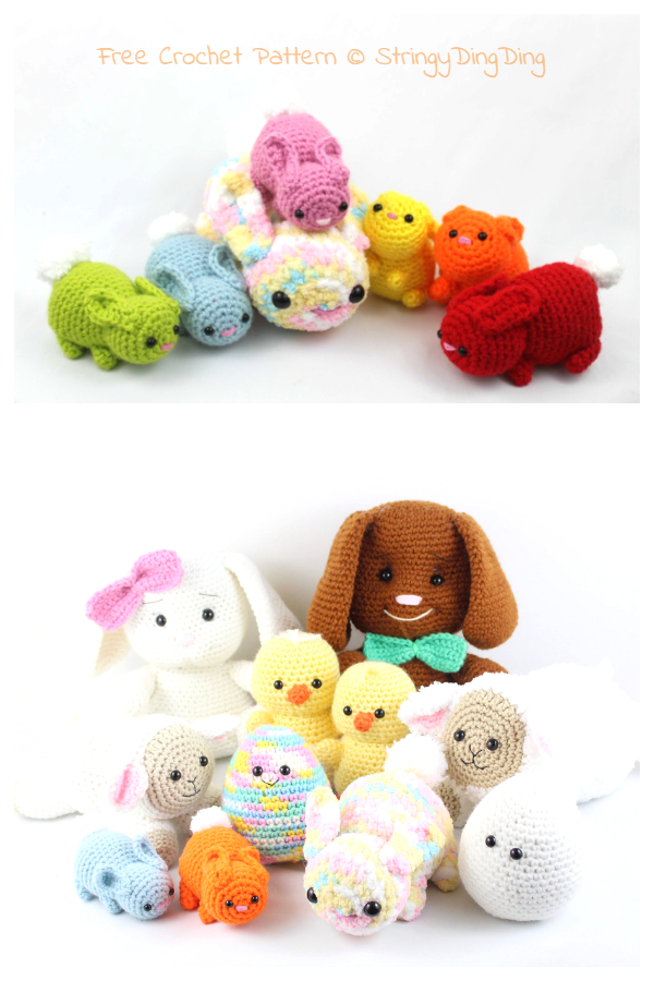Amigurumi Easter Bunny Set Free Crochet Patterns