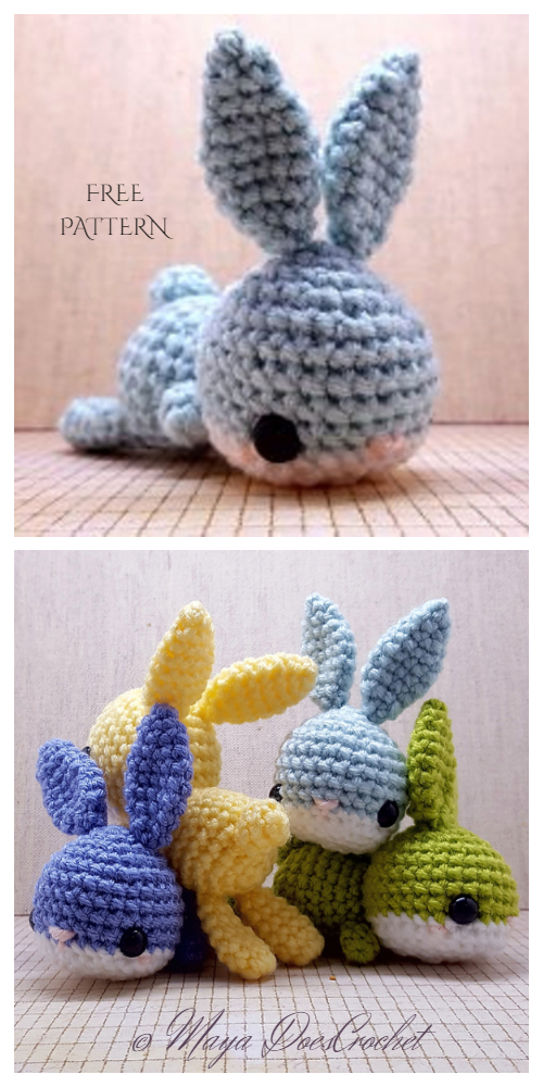 Amigurumi Babble the Lounging Bunny Free Crochet Patterns