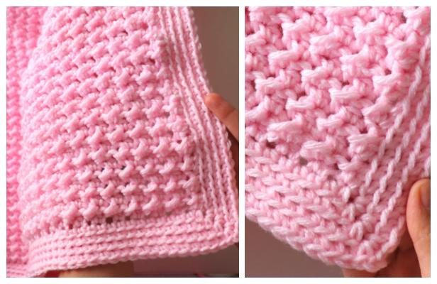 Easy Beginner Blanket Free Crochet Pattern + Video