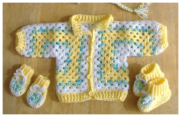 Granny Hexagon Baby Jacket Free Crochet Pattern + Video