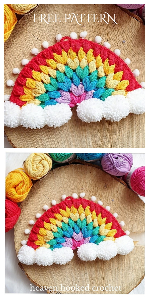Rainbow Wall Hanging Free Crochet Patterns & Paid