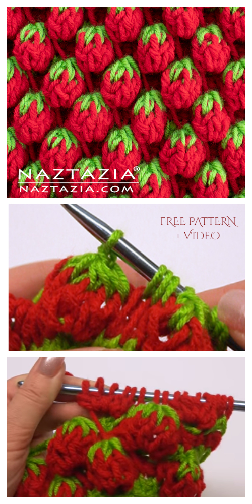 Strawberry Stitch Free Crochet Pattern + Video