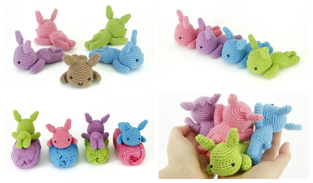 Amigurumi Lazy Bunny Free Crochet Patterns
