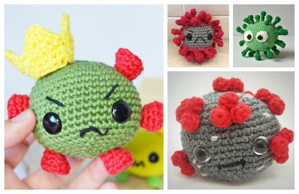 Crochet Coronavirus Amigurumi Free Patterns & Paid