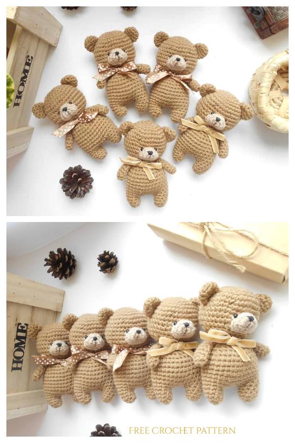 Crochet Tiny Teddy Bear Amigurumi Free Patterns