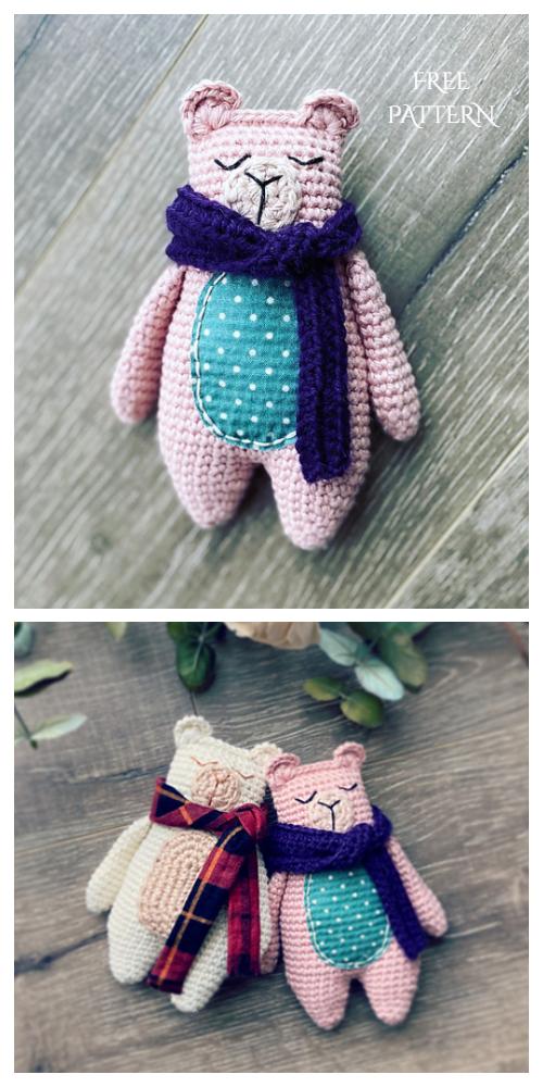 Crochet Rag Doll Bear Amigurumi Free Patterns