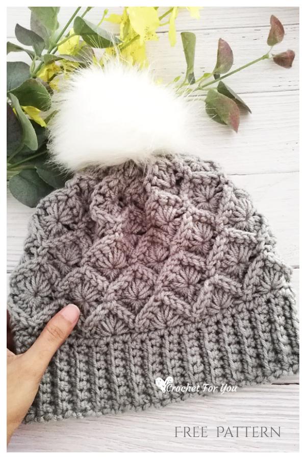 Bavarian Stitch Beanie Hat Free Crochet Pattern