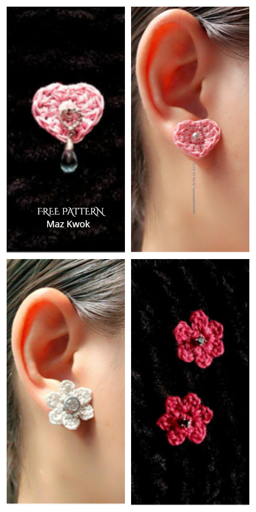 Earring Jackets Free Crochet Pattern