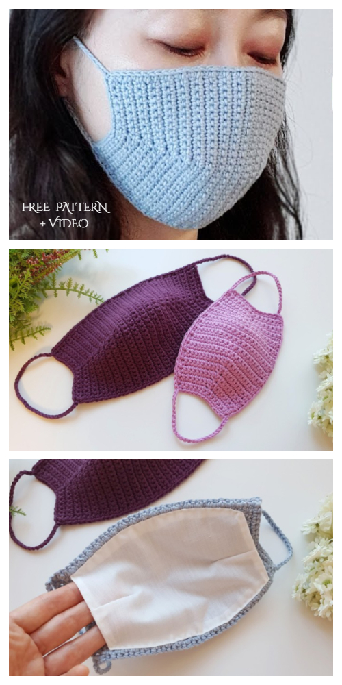 Face Mask Free Crochet Patterns + Video