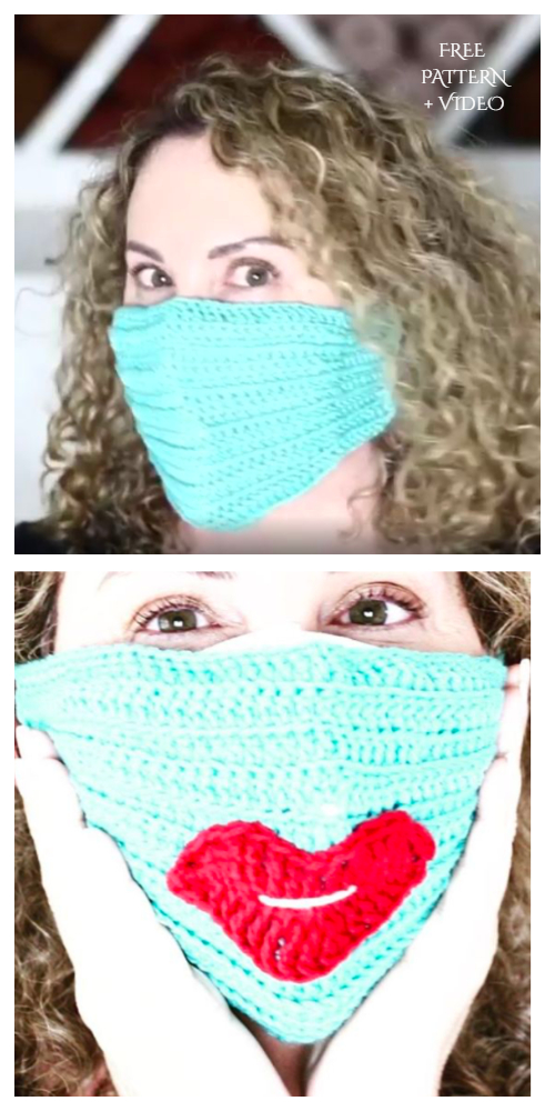 Face Mask Cover Free Crochet Patterns + Video