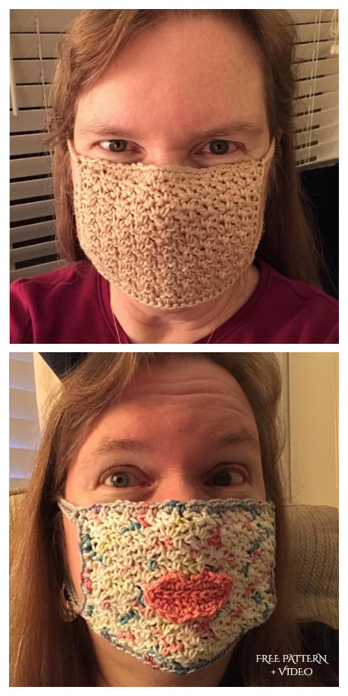 Easy Face Mask Free Crochet Patterns + Video