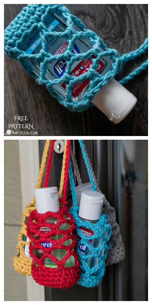 Hand Sanitizer Holder Free Crochet Patterns