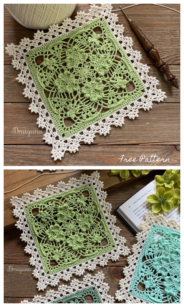 Shamrock Square Doily Free Crochet Patterns