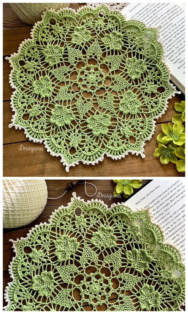 Shamrock Soiree Doily Free Crochet Patterns