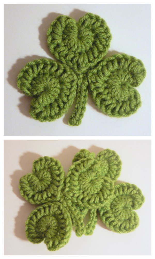 St Patricks Day  Shamrock Coaster Free Crochet Patterns & Paid