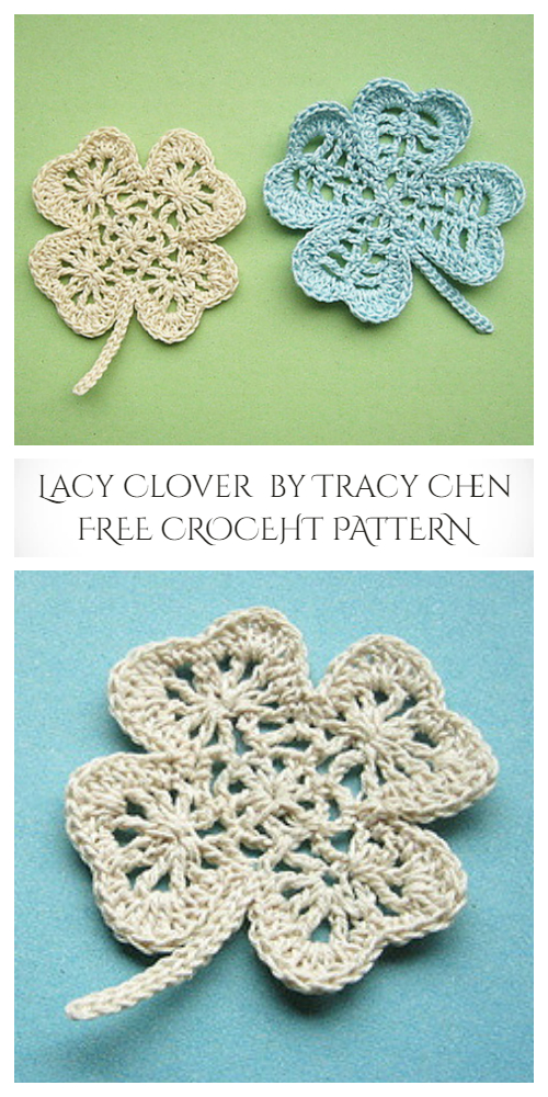 Lacy Clover Shamrock Coaster Free Crochet Patterns