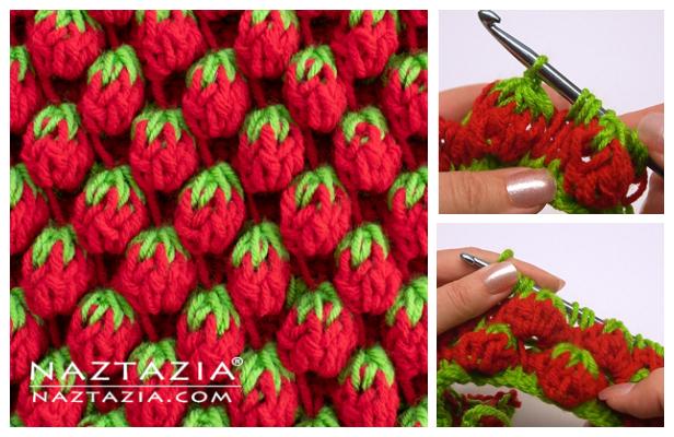 Strawberry Stitch Free Crochet Pattern + Video