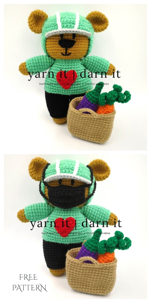 Amigurumi Frontline Hero Bear Free Crochet Pattern + Video