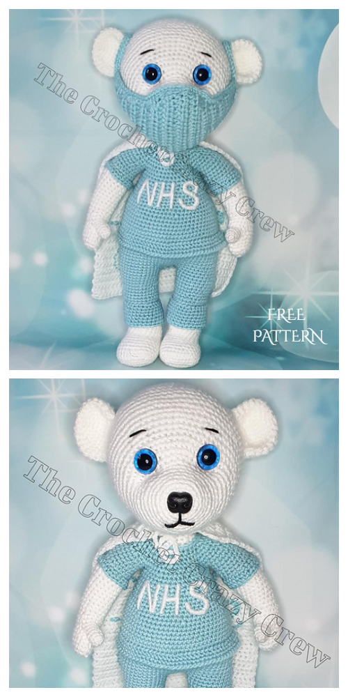 Amigurumi Frontline Super Hero Bear Free Crochet Pattern
