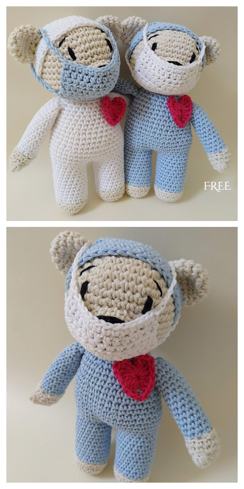 Amigurumi Healthcare Hero Bear Free Crochet Patterns