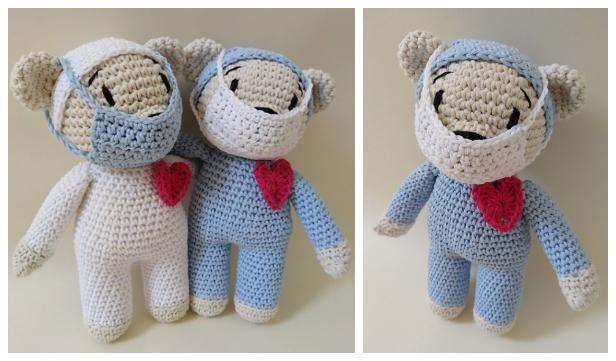 Amigurumi Healthcare Hero Bear Free Crochet Patterns