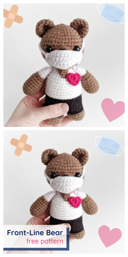 Amigurumi Front Line Bear Free Crochet Patterns
