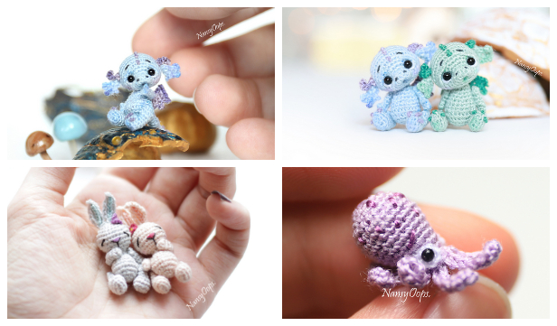 Amigurumi Miniature Animals Free Crochet Patterns & Paid
