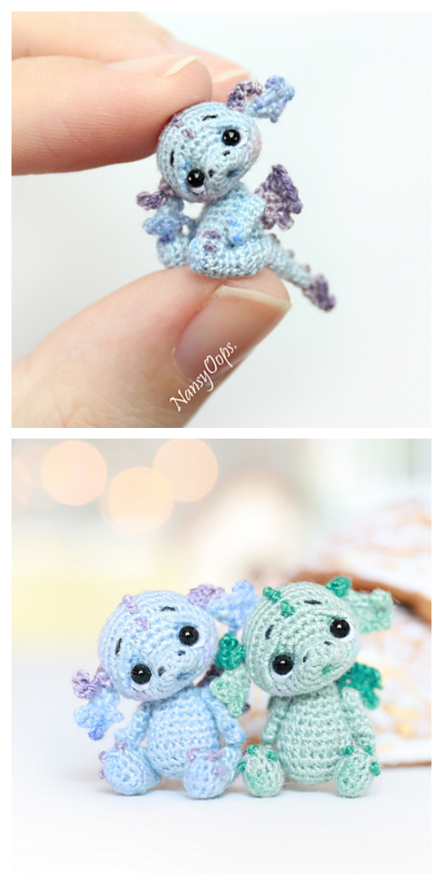Amigurumi Miniature Animals Dragon Free Crochet Patterns