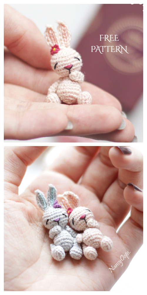Amigurumi Miniature Animals Tiny Bunny Free Crochet Patterns