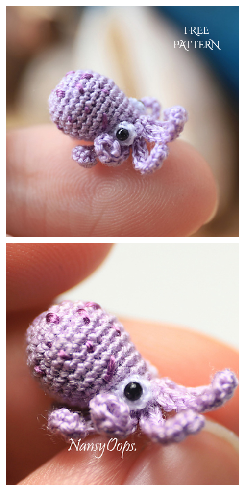 Amigurumi Miniature Animals Tiny Octopus Free Crochet Patterns
