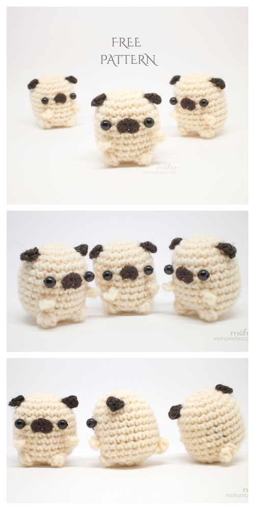 Amigurumi Mini Pug Free Crochet Patterns
