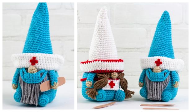 Amigurumi Nurse & Doctor Gnome Free Crochet Pattern