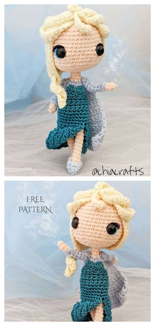 Amigurumi Princess Elsa Doll Free Crochet Patterns