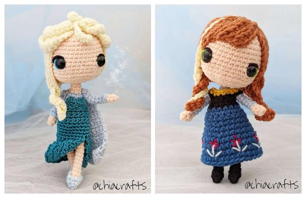 Amigurumi Princess Elsa Doll Free Crochet Patterns