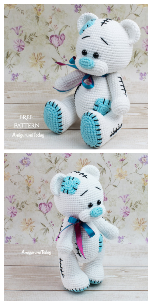 Amigurumi Teddy bear in pajamas rochet pattern PDF Tutorial ... | 1000x500
