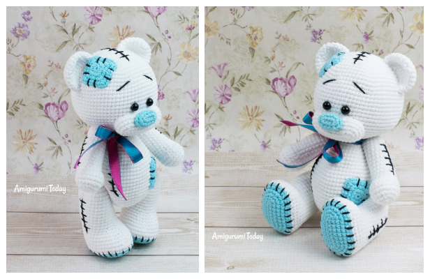 Little Teddy Bear. Free pattern !! - Julio Toys | Crochet patterns ... | 400x616