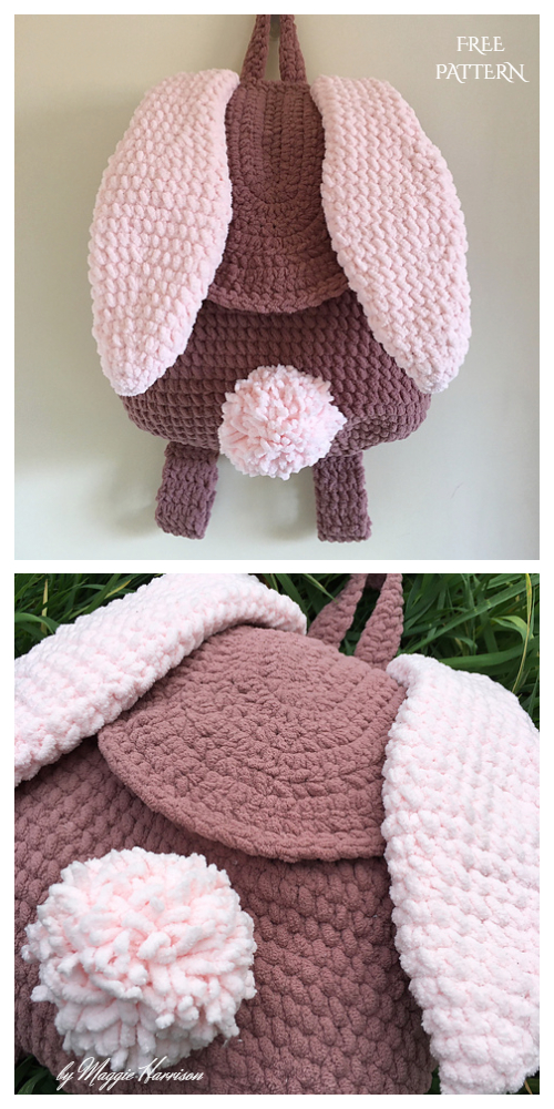 Bunny Backpack Free Crochet Pattern & Paid