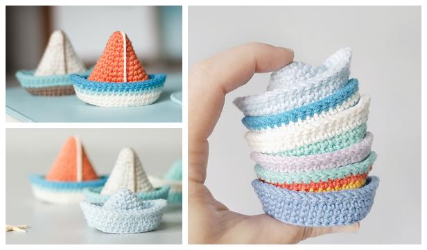 Crochet Boat Amigurumi Free Pattern